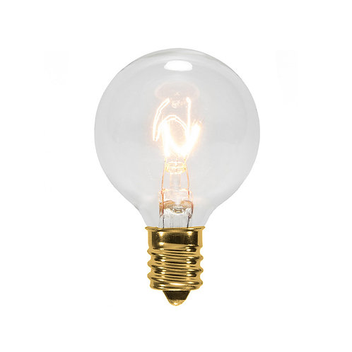 Bulbs - G40 Globe Clear 25ct