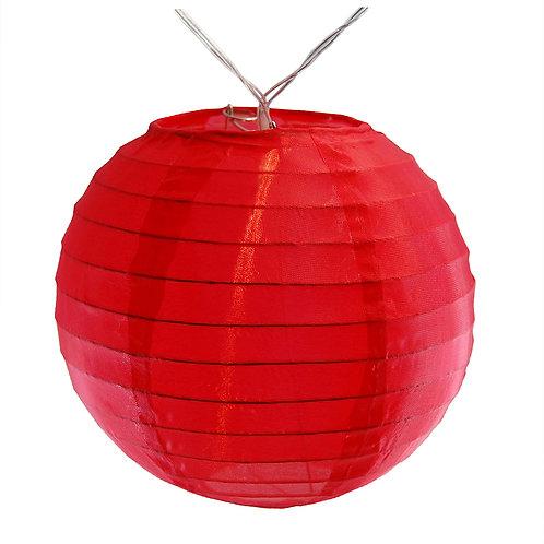 """Battery LED String Lights Nylon Lantern 6"""" - Red  10ct"""