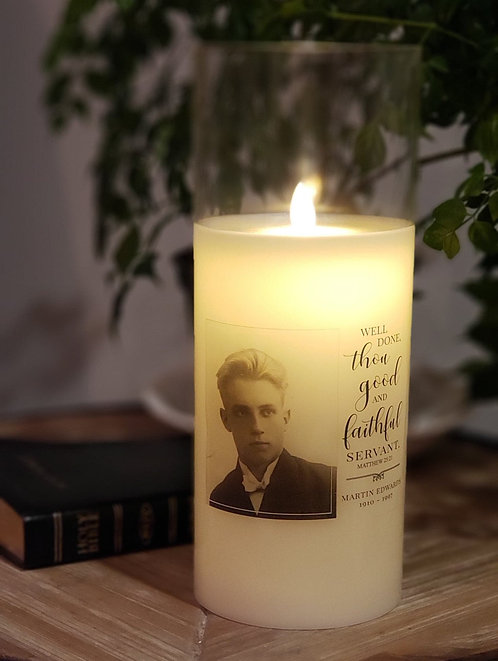 Well Done Faithful Servant Custom Candle