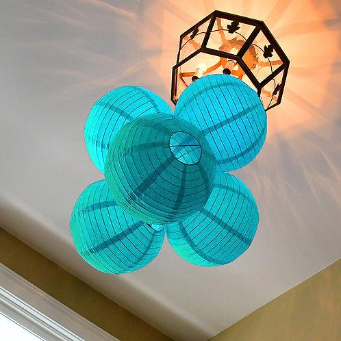 "Paper Lantern 10"" - Turquoise 5ct"
