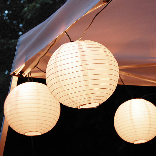 Electric Lights Paper Lantern Kit - White
