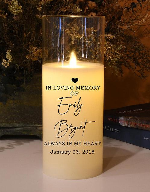 In Loving Memory Memorial Candle (Heart) - Natural Motion