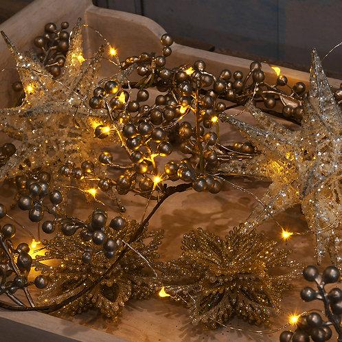 Battery LED Fairy String Lights - Amber 2-40L