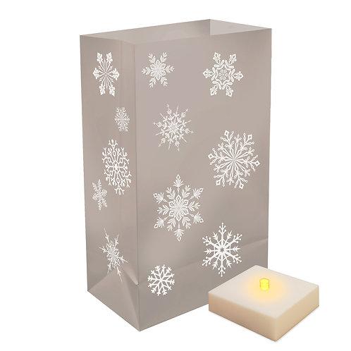 Silver Snowflake LED LumaLite Kit Plastic Bags 6ct