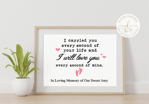 Miscarriage / Pregnancy Loss Memorial Print