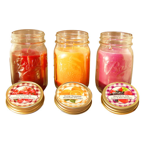 Scented Candles Jams & Jelly Collection 3-12oz