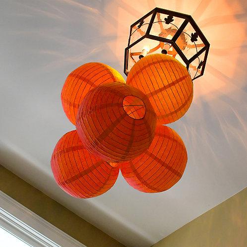 """Paper Lantern 10"""" - Orange 5ct"""