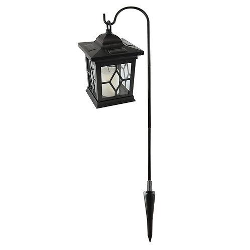 Solar Lantern & Shepherds Hook Black 1ct