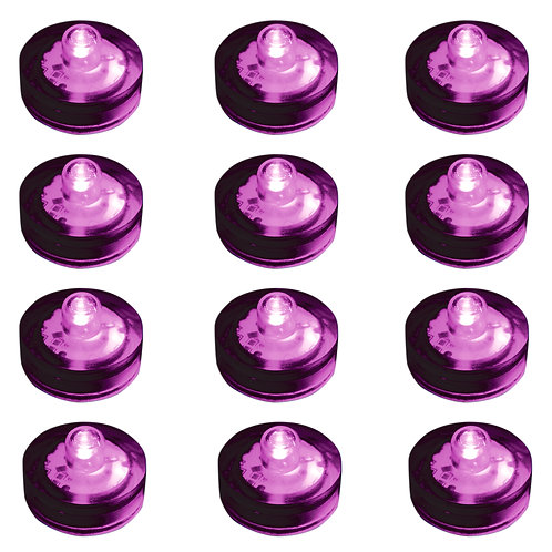 Submersible PURPLE LED Lights 12ct