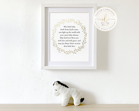Baby Nursery Wall Quote ***Instant Download***