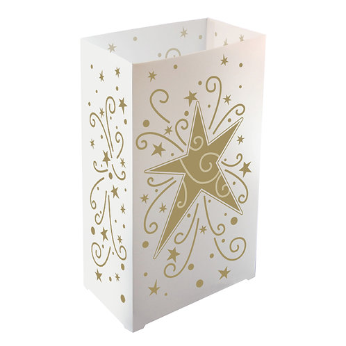 Plastic Luminarias STAR 100ct