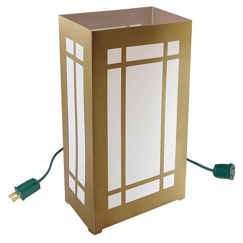 Electric Luminaria Kit - Gold Lantern 10L
