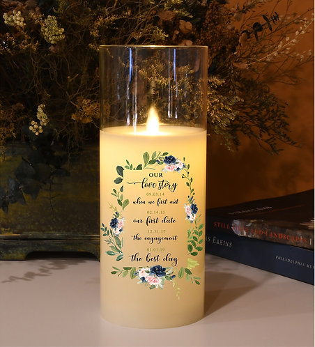 Our Love Story Custom Candle