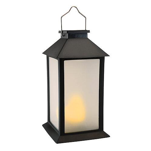 Solar Lantern Fire-Like Black w/Light