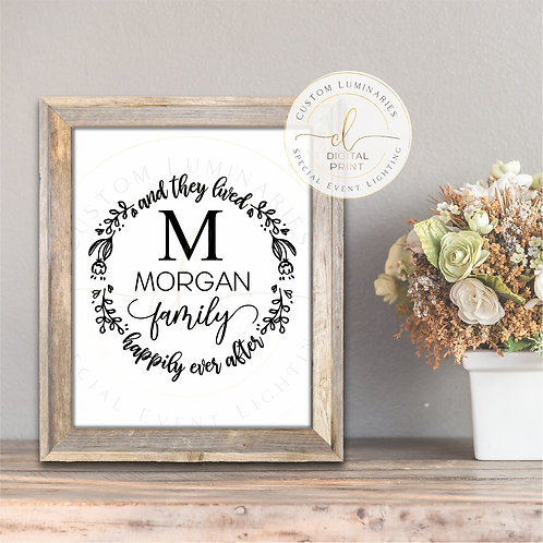 Happily Ever After Custom Print