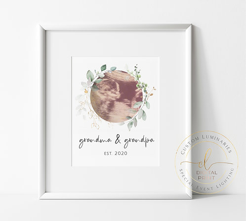 Baby Ultrasound Grandparent Gift Custom Print