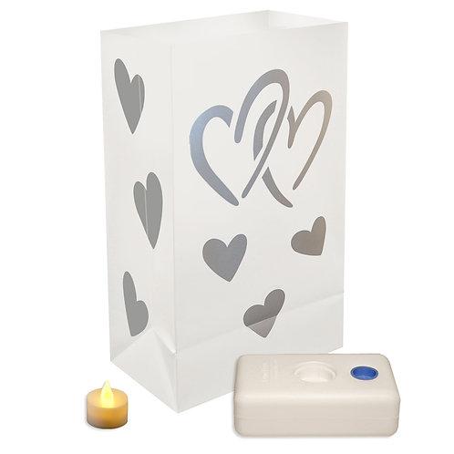 Battery LED Luminaria Kit - Hearts 12ct