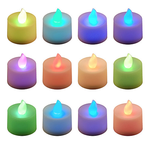 Battery LED Tealights - Changing Color 12L
