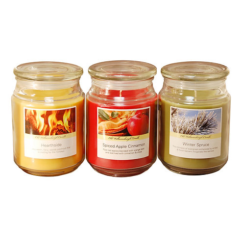 Scented Candles Holiday Collection 3-18oz