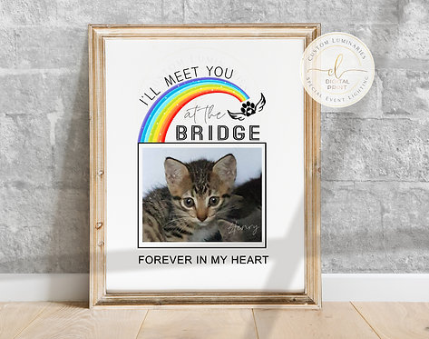 Rainbow Bridge Pet Memorial Print - Digital Download