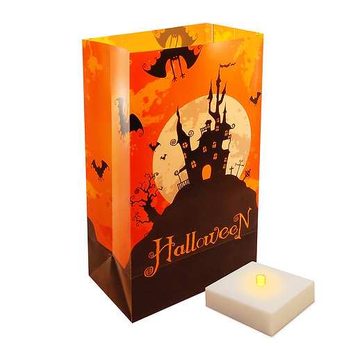 Battery LumaLite LED Luminaria Kit - Halloween House 6ct