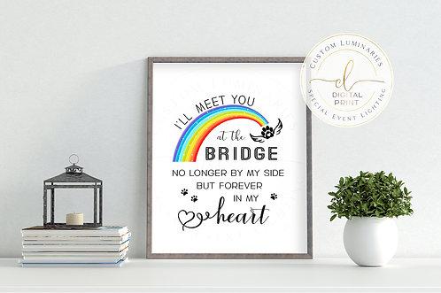 Rainbow Bridge Pet Memorial - Instant Download