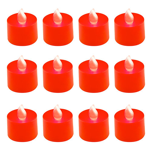Battery LED Tealights - Red 12L
