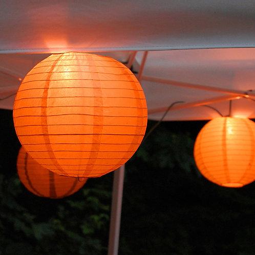 Electric Lights Paper Lantern Kit - Orange