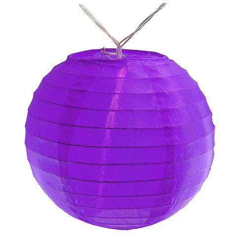 "Battery LED String Lights Nylon Lantern 6"" - Purple 10ct"