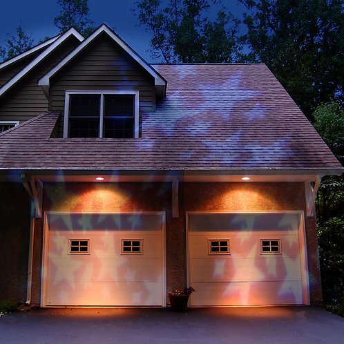 Electric Projector Lights - White Stars 1ct