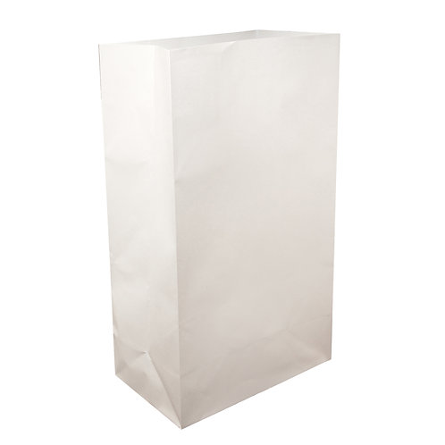 Flame Resistant White Luminary Bags - 100 Count #01410