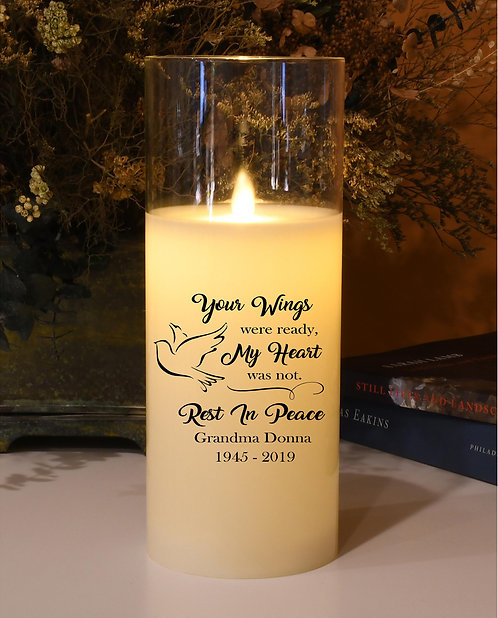 Your Wings Were Ready Custom Natural Motion Candle