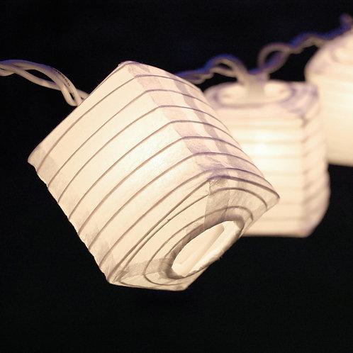 Square Nylon Lantern String Lights