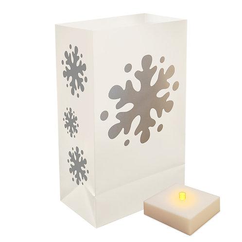 Battery LumaLite LED Luminaria Kit - Snowflake 6ct