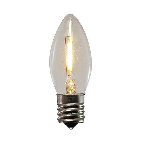 Bulbs - C9 E17 Clear 10ct