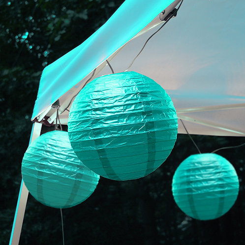 Electric Lights Paper Lantern Kit - Turquoise