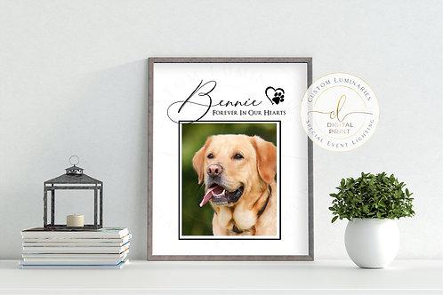 Pet Memorial Custom Print - Digital Download