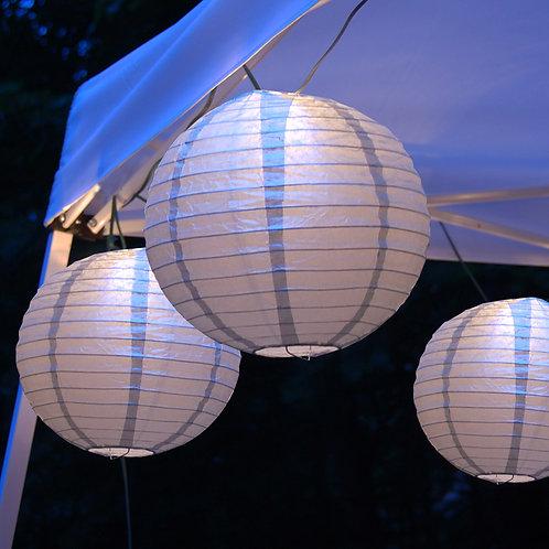 Electric Lights Paper Lantern Kit - Metallic Silver