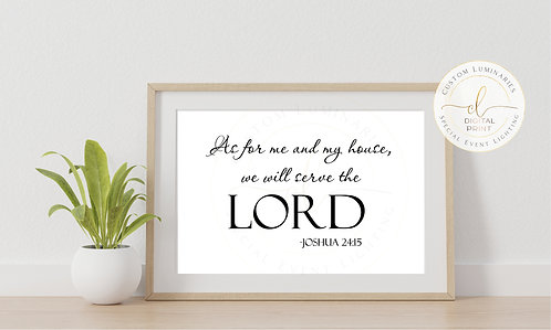 As For Me and My House Digital Print *Instant Download*
