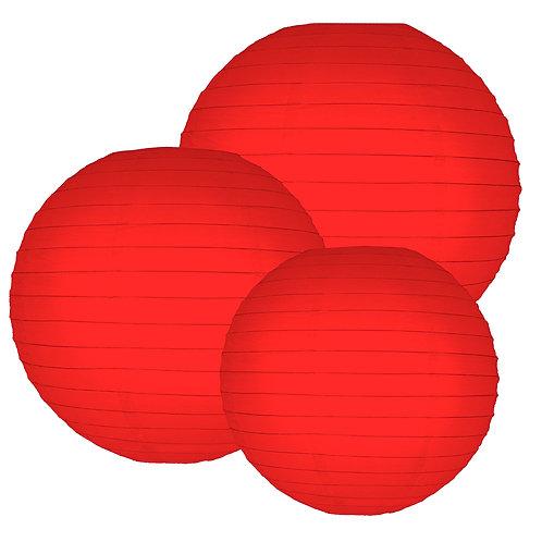 Paper Lantern Multi Sizes RED 6ct