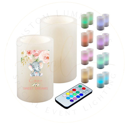 Sweet Dreams Personalized Color Changing Candle