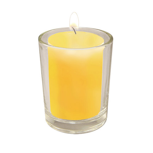 15 Hour Wax Candles Citronella-Clear Holders 12ct