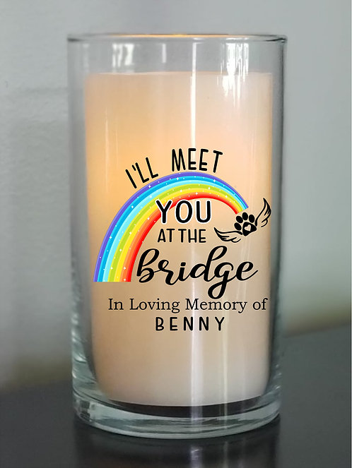 "Rainbow Bridge Candle - 6"" Cylinder"