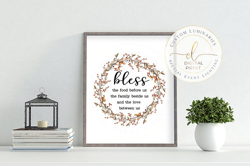 Bless the Food Before Us Digital Print - Instant Download