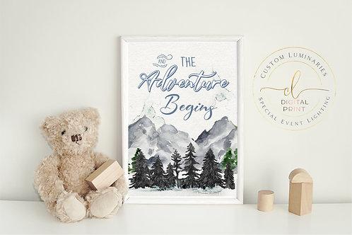 The Adventure Begins Digital Print