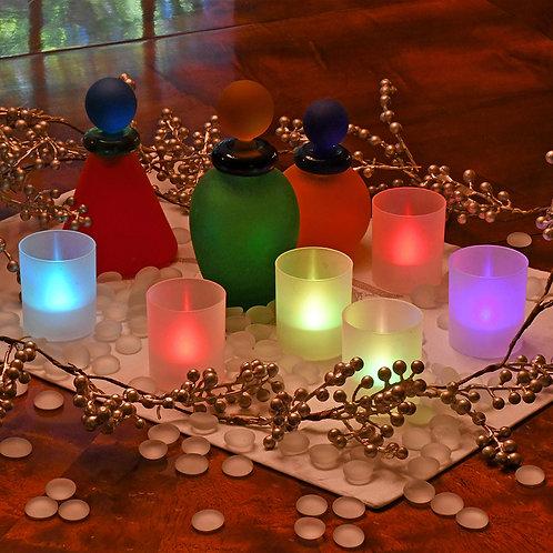 Battery LED Votive Cups - Changing Color 6L