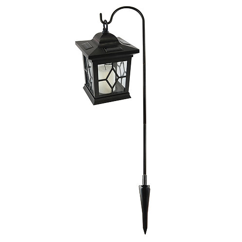 Solar Lantern & Shepherd's Hook - Black
