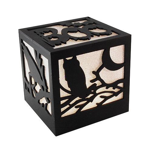 Wooden Lantern - Halloween Boo Box Light