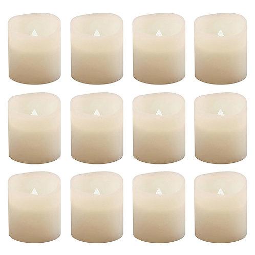 Battery LED Votive Candle Lights - Warm White 12L