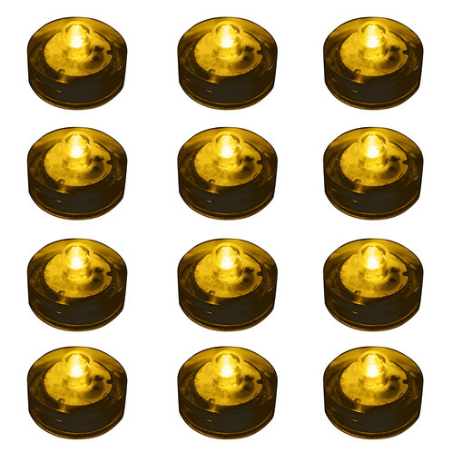 Submersible AMBER LED Lights 12ct